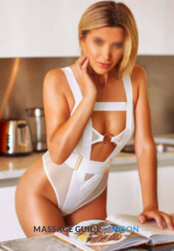 Watermark rsz alina in sexy white lingerie in kitchen bayswater adult massage london